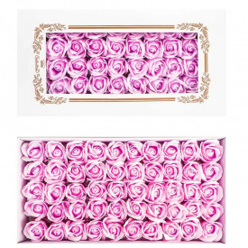 Trandafiri decorativi, din sapun, 50 buc/set - LAVANDA