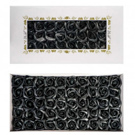 Trandafiri decorativi, din sapun, 50 buc/set - NEGRU