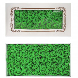 Trandafiri decorativi, din sapun, 50 buc/set - VERDE FISTIC