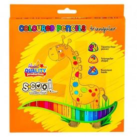 Creioane color, 24 culori/set - S-COOL