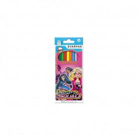 Creioane color - Barbie, 12 culori/set - STARPAK