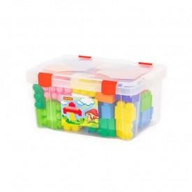 Cuburi constructii Jumbo, 74 piese/cutie, Polesie