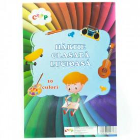 Hartie Glace Lucioasa 10 culori Katy Paper
