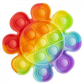 Jucarie senzoriala, antistres, curcubeu, 13x13x1,5 cm - Floare
