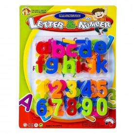 Litere minuscule + cifre magnetice, 1set/blister