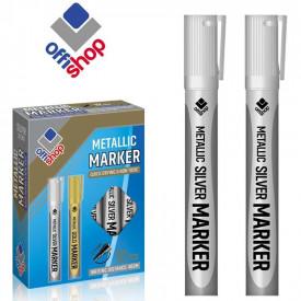 Marker permanent argintiu, 2-4 mm, 12 buc/set - OFFISHOP