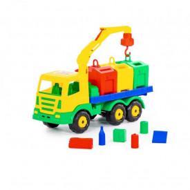 Masina salubrizare + containere - SuperTruck, 42x16x25cm, Wader