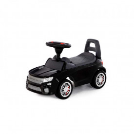 Masinuta - Supercar, neagra, fara pedale, 66x28.5x30 cm, Polesie