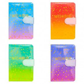Notes A6 cu magnet, 112 file, Diverse culori