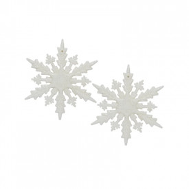 Ornament Craciun - fulgi de nea, 2/set