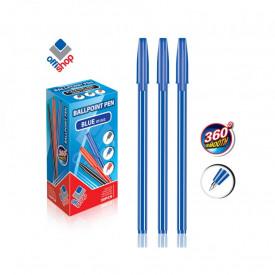 Pix cu capac, mina albastra, 50 buc/set - OFFISHOP