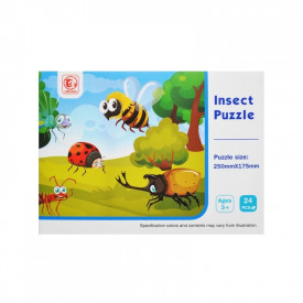 Puzzle 24 piese, Insecte