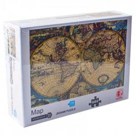 Puzzle carton mini, Harta, 1000 piese
