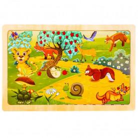 Puzzle lemn, 24 piese, Animale salbatice 2