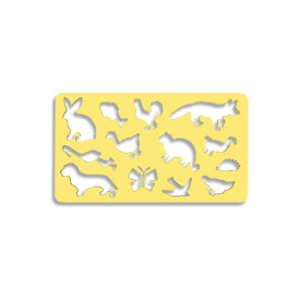 Sablon 13 animale diverse, 21x18,5 cm - Koh-I-Noor