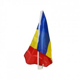Steag auto, cu suport plastic, Romania, 30x45 cm