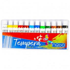 Tempera 6 ml, 12 culori/cutie - NEBO