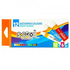 Tempera, 6 ml, 12 culori/set - S-COOL
