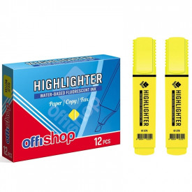 Textmarker fluorescent galben, 1-5 mm, 12 buc/set - OFFISHOP
