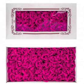 Trandafiri decorativi, din sapun, 50 buc/set - FUCSIA