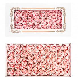 Trandafiri decorativi, din sapun, 50 buc/set - ROZ PAL