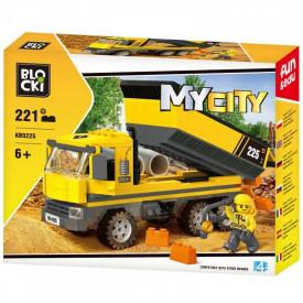 Blocki My City, Camion cu bena, 221 piese