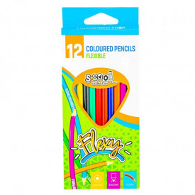 Creioane color, flexibile, 12 culori/set - S-COOL