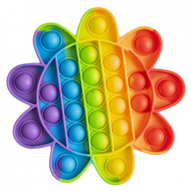 Jucarie senzoriala, antistres, curcubeu, 14,5x14,5x1,5 cm - Floare