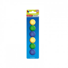 Magneti color, 29 mm, 12 buc/set - STARPAK