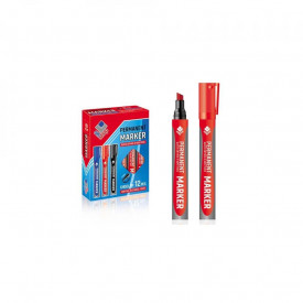 Marker permanent, tesit, rosu, 12 buc/set - OFFISHOP