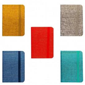 Notes A7 cu elastic, 80 file, Diverse culori