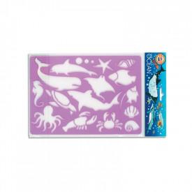 Sablon animale oceanice, 26,5x18,5 cm - Koh-I-Noor