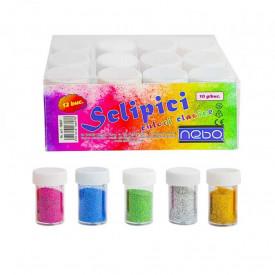 Sclipici, culori clasice, 10 g/buc, 12 buc/set - NEBO