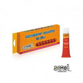 Tempera rosie, 16 ml, 10 culori/set - S-COOL