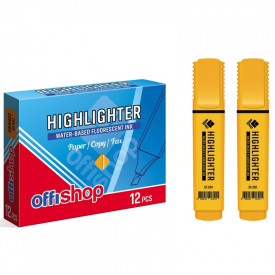 Textmarker fluorescent portocaliu, 1-5 mm, 12 buc/set - OFFISHOP