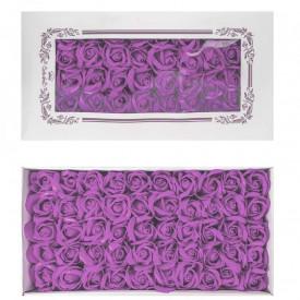 Trandafiri decorativi, din sapun, 50 buc/set - LILA