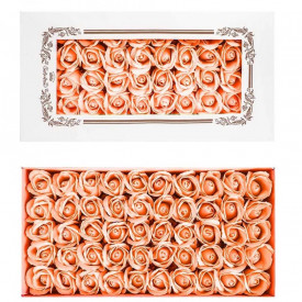 Trandafiri decorativi, din sapun, 50 buc/set - PIERSICA
