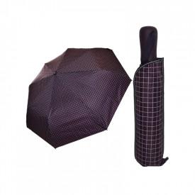 Umbrela scurta, semiautomata, carouri, 31/57 cm