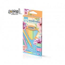 Creioane color, pastel, 12 cul/set - S-COOL