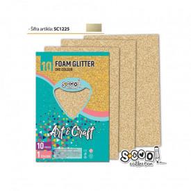 Hartie buretata, glitter, bej, 10 buc/set, 20x30 cm - S-COOL