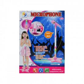 Microfon cu baterii si suport, pentru copii