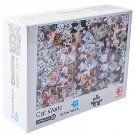 Puzzle carton mini, Lumea pisicilor, 1000 piese