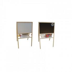 Tablita lemn magnetica/ajustabila/2 fete/ 90 cm + suport + accesorii - Tupiko