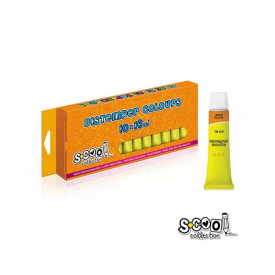 Tempera galben lamaie, 16 ml, 10 buc/set - S-COOL