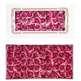 Trandafiri decorativi, din sapun, 50 buc/set - ROZ PRAFUIT
