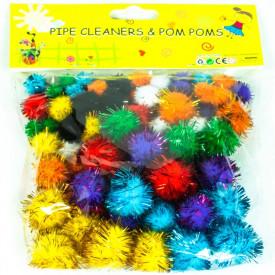 Accesorii craft Bilute glitter Pom-Poms