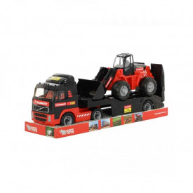 Camion+buldozer - Mammoet, 89x19x25 cm, Polesie