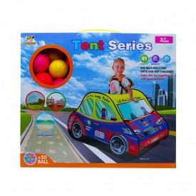 Cort de joaca + 50 mingi plastic, masina de pompieri