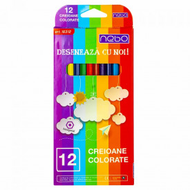 Creioane color hexagonale, 12 buc/set - NEBO