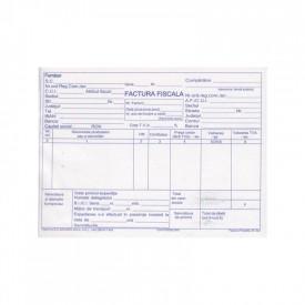 Facturier A5, 100 file, autocopiativ, cu TVA, 3 exemplare